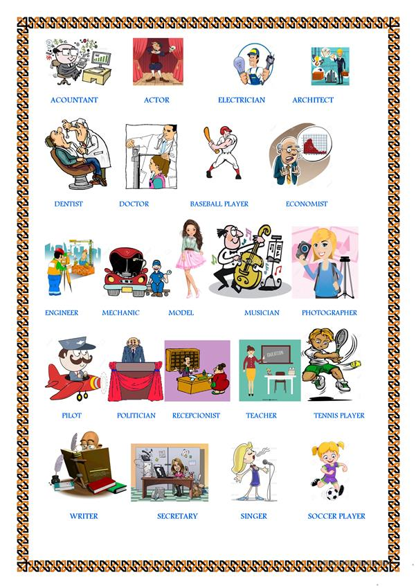 Verb To be with Professions, Grammar, vocabulary, and practice. (3 PAGES)