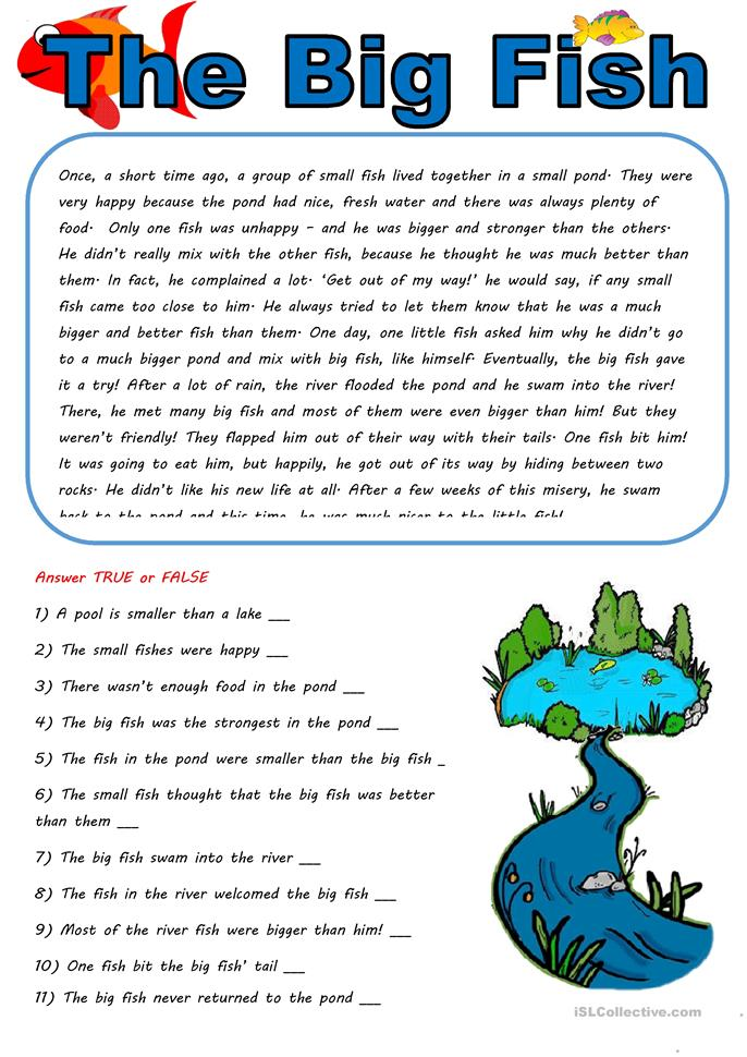50 000 free esl efl worksheets made by teachers for teachers for Big fish in a small pond game