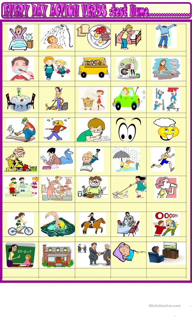 3 Free Esl Daily Routines Action Verbs Worksheets