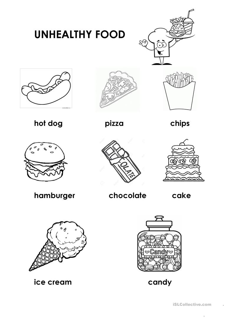 Worksheets Eating Healthy Worksheets healthy unhealthy food worksheet free esl printable worksheets full screen