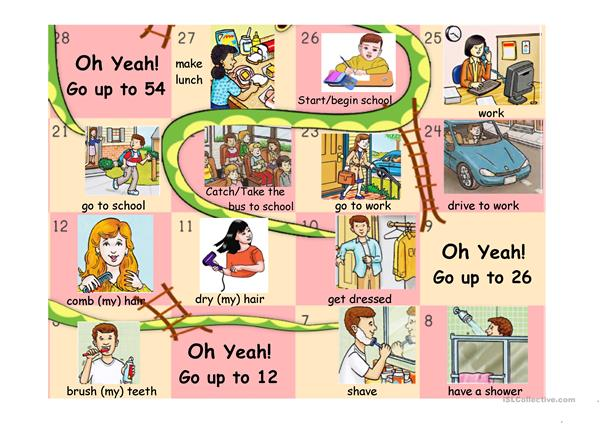 DAILY ROUTINE SNAKES AND LADDERS PART 1