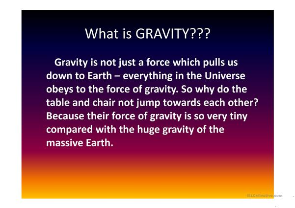 Gravity and friction