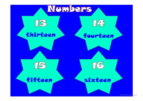 Numbers 1-101