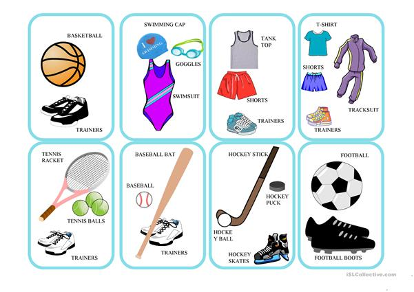 SPORTS AND EQUIPMENT CARD GAMES
