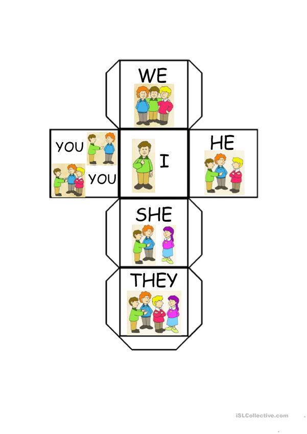 SUBJECT PRONOUNS DICE