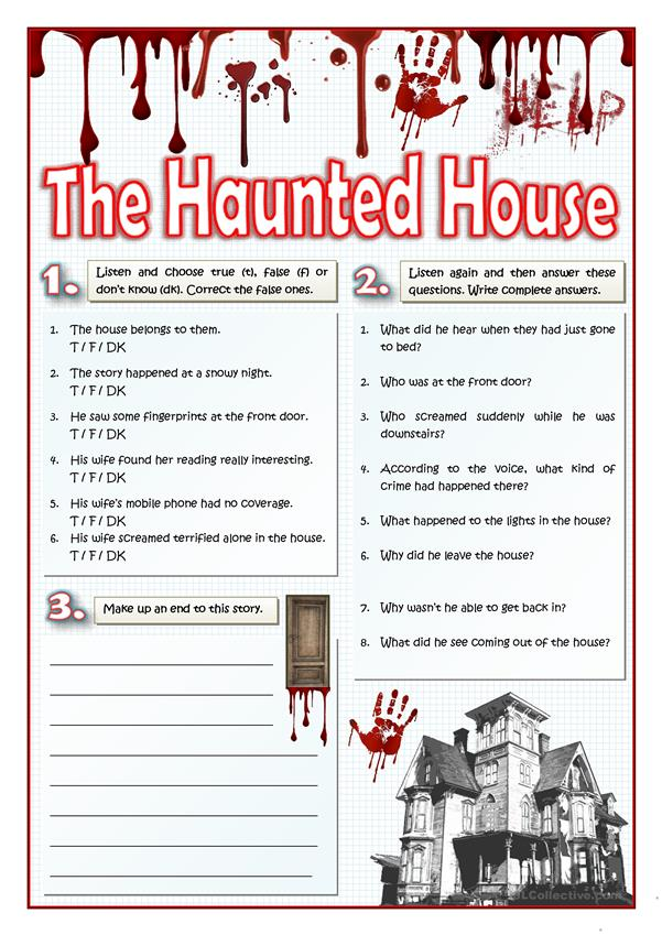 THE HAUNTED HOUSE - LISTENING AND WRITING
