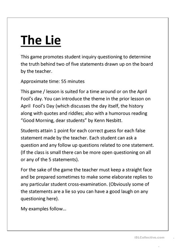 The Lying Teacher