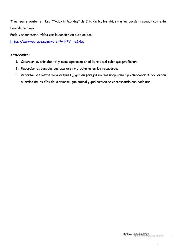 Today is Monday worksheet - Free ESL printable worksheets made by ...
