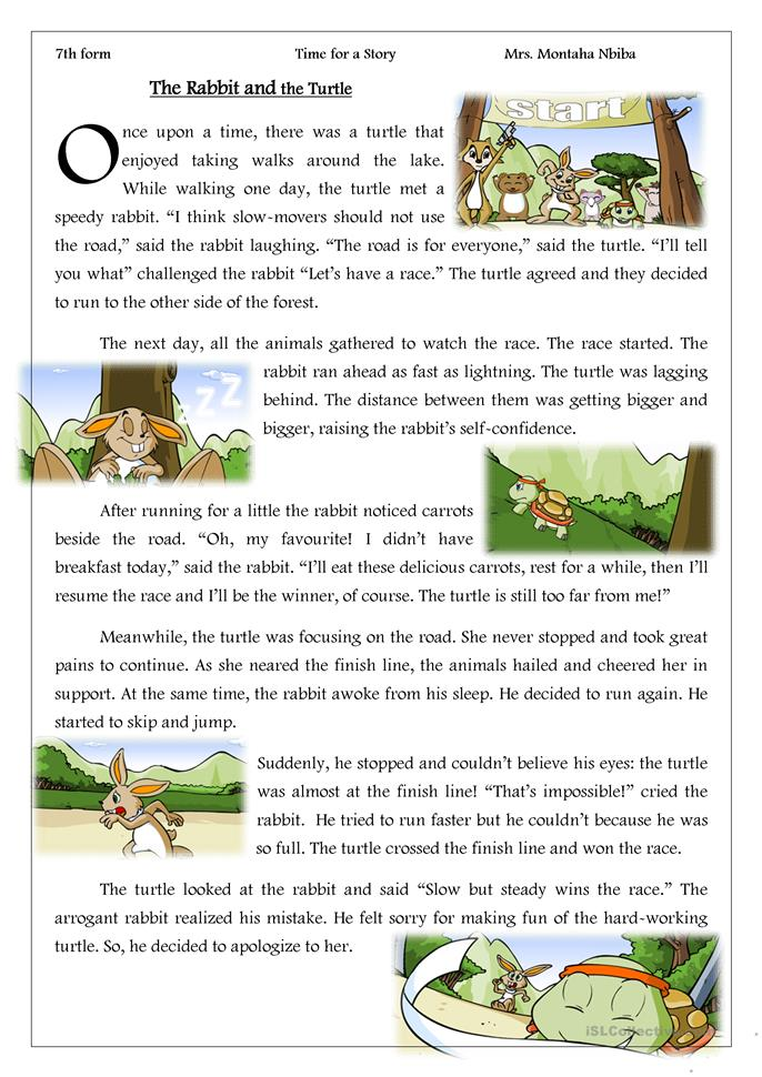 Time for a story _ The Rabbit and the... - ESL worksheets