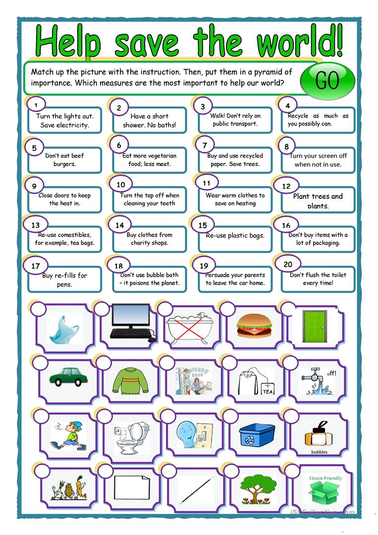 Worksheets Earth Worksheets 19 free esl earth day worksheets resource