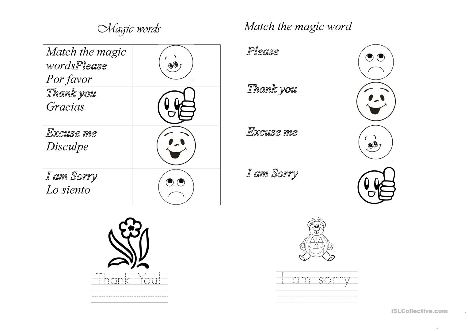 Worksheets Worksheet Magic magic words worksheet free esl printable worksheets made by teachers full screen