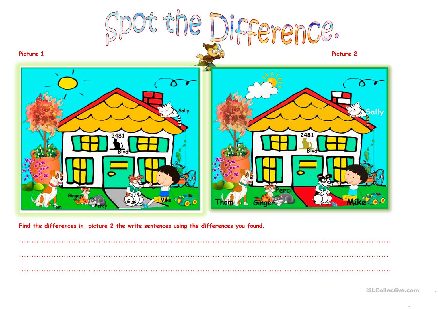 Spot the difference April 2016. - English ESL Worksheets ...