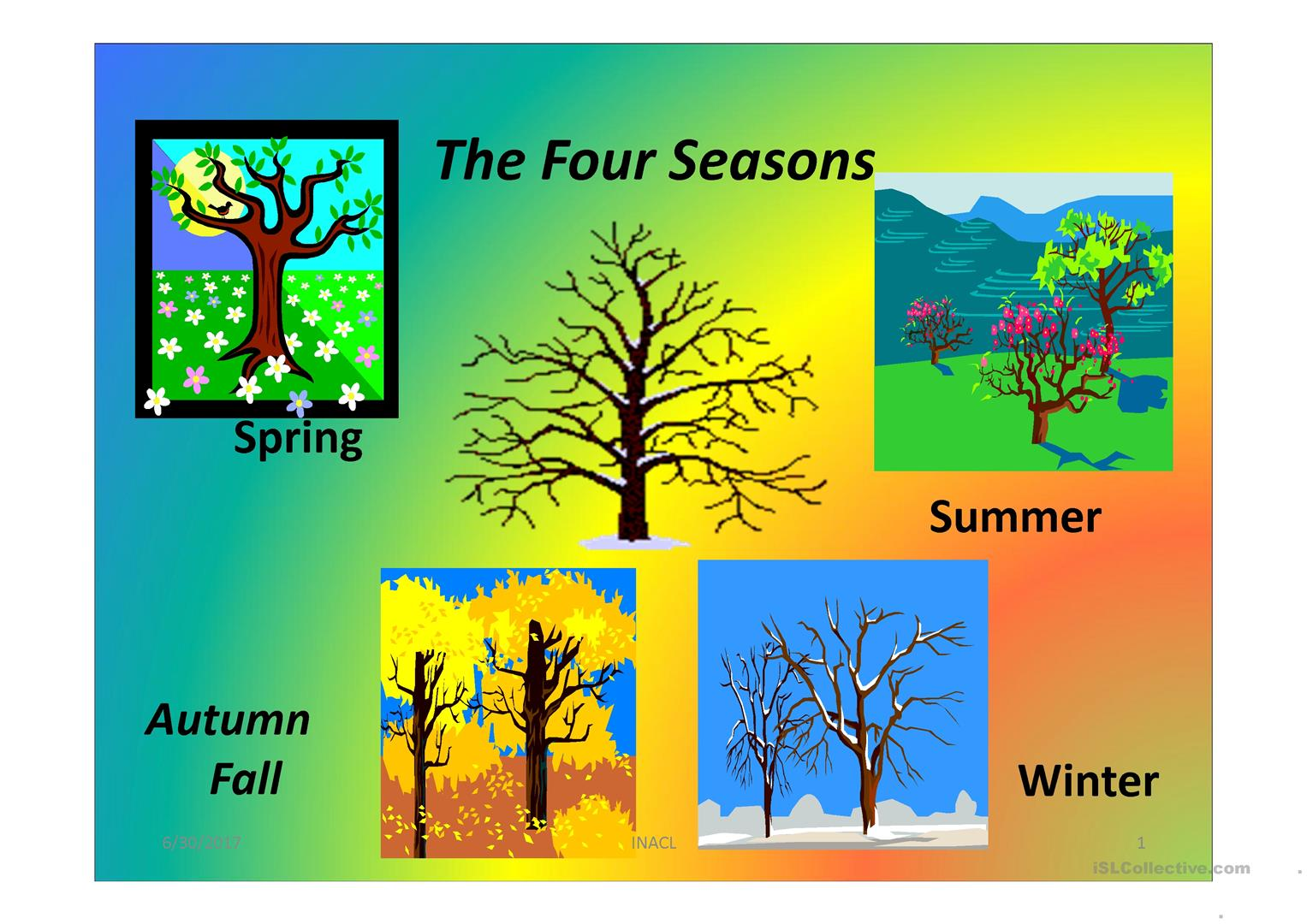 The Four Seasons - English ESL Powerpoints for distance learning and  physical classrooms