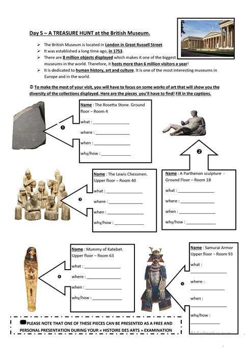 British Museum Worksheet Free Esl Printable Worksheets Made By
