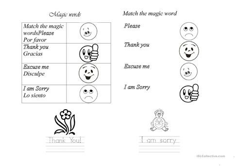 Magic words worksheet free esl printable worksheets made by teachers full screen ibookread Read Online