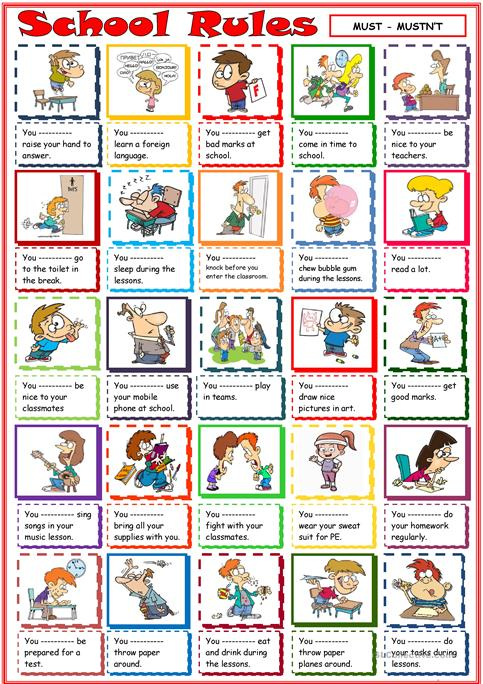 School Rules: Reading Passage and Activity - Identifying cause and ...