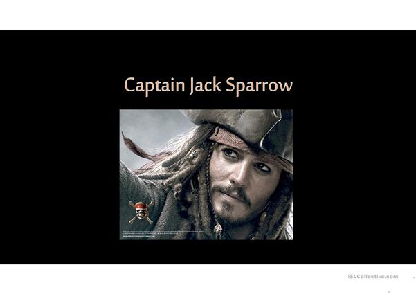 Describing and comparing Captain Jack Sparrow & Will Turner