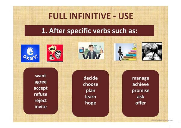 Gerunds and infinitives 2
