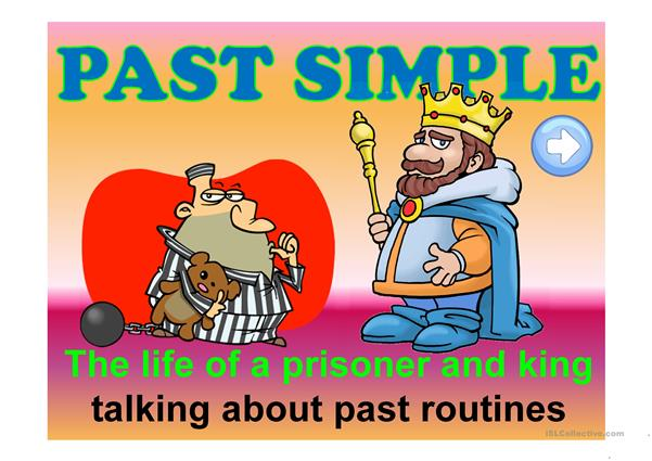 ONCE UPON A TIME ... - past routines speaking activity