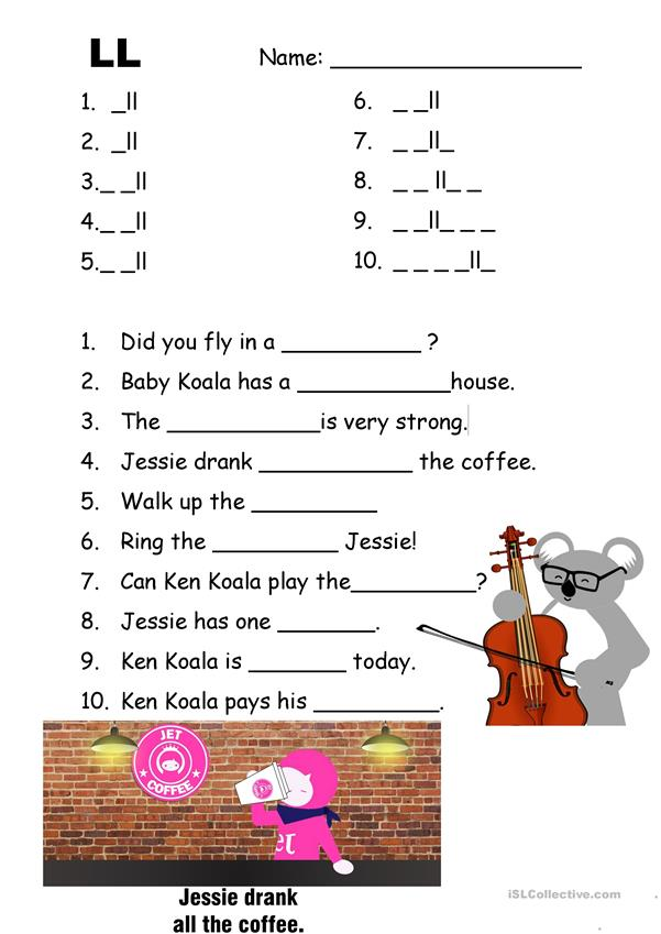 Phonics LL with video and answer key