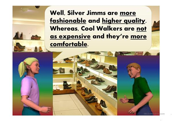 Shopping and comparatives