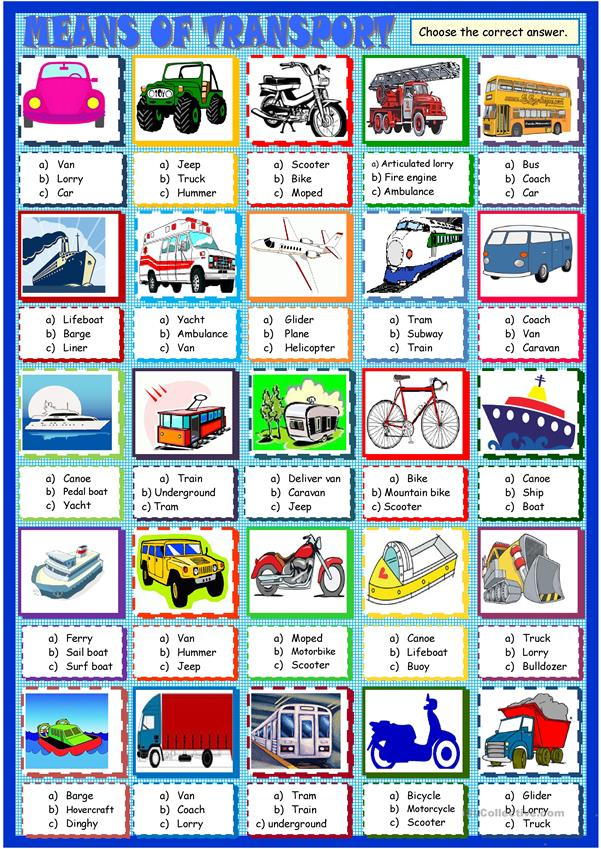 Transports: multiple choice quiz