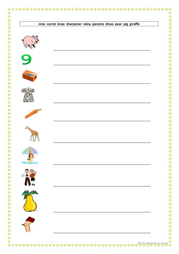 Vocabulary Revision Booklet (Ten pages -100 words)