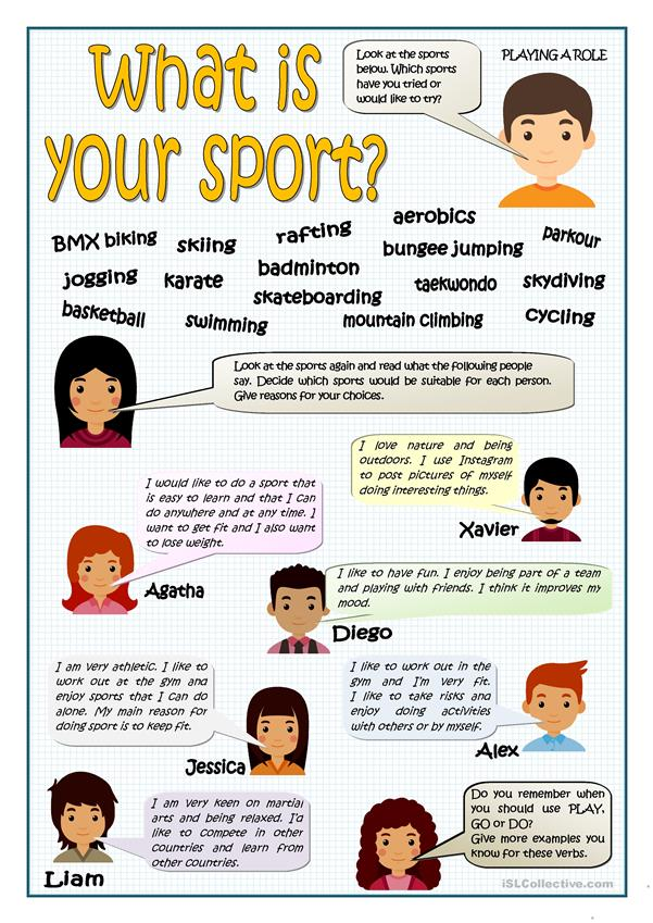 WHAT I YOUR SPORT?