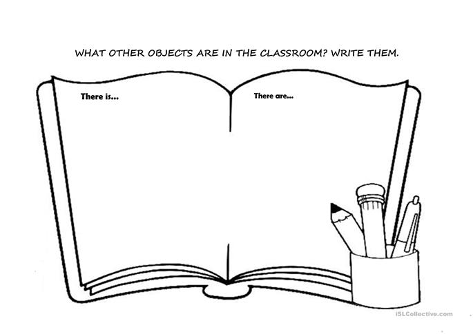 CLASSROOM OBJECTS (THERE IS/THERE ARE) - ESL worksheets