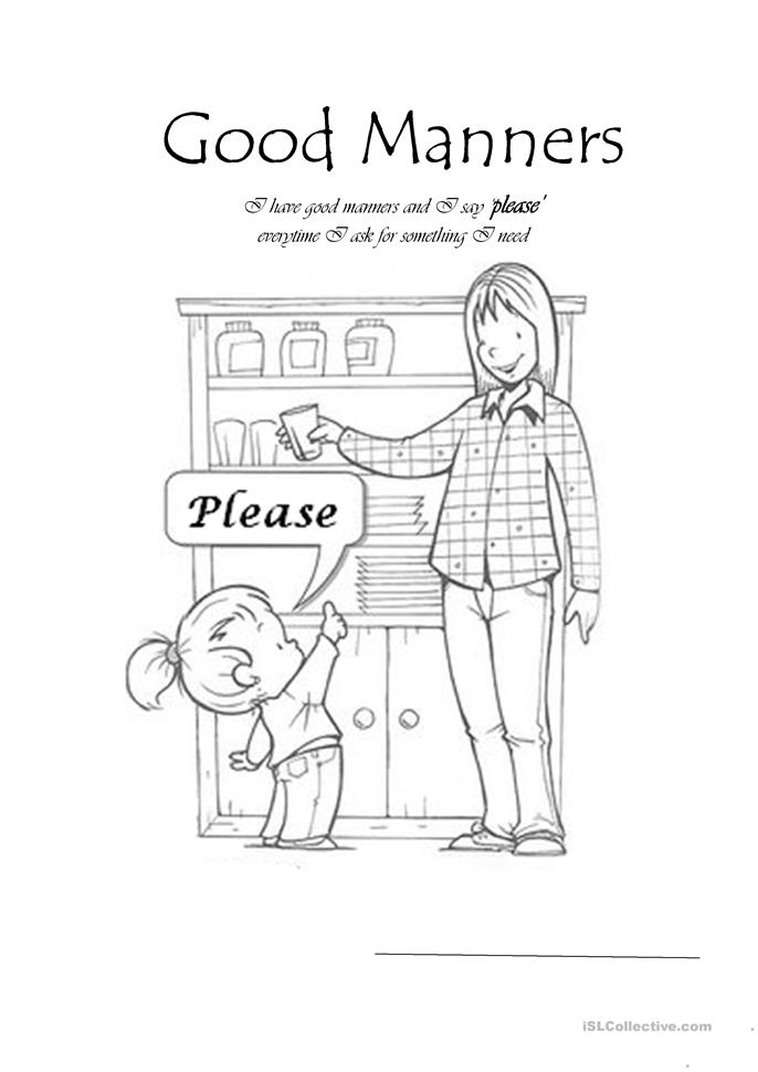 It is a photo of Wild Free Printable Manners Worksheets