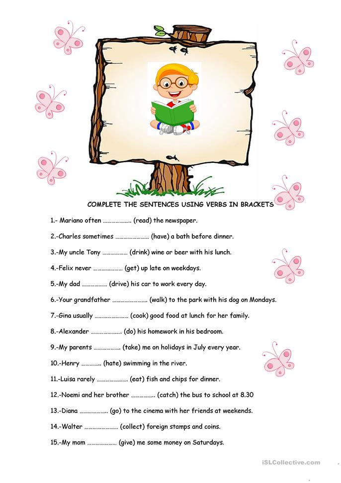 Grammar exercises - ESL worksheets