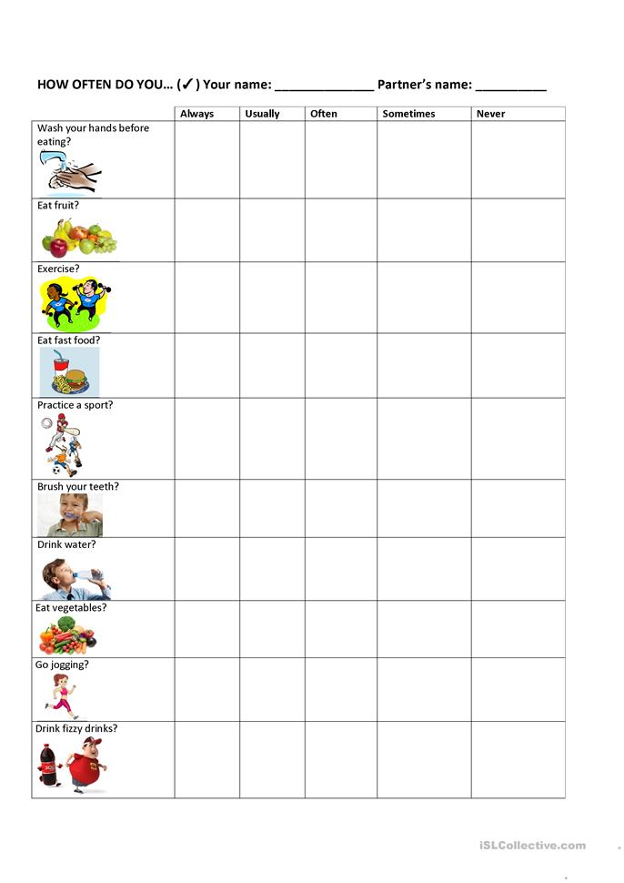 Printables Healthy Habits Worksheets 13 free esl healthy habits worksheets habits