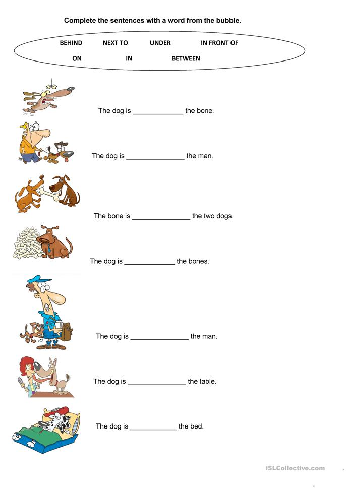 LET'S WORK WITH PREPOSITIONS - ESL worksheets