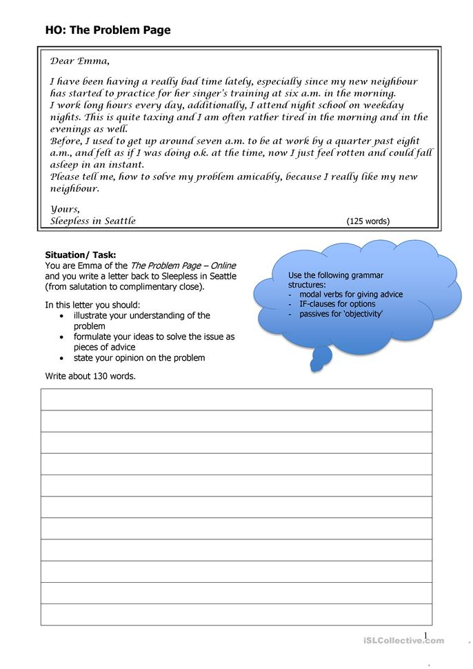 sample agony aunt letter Use these fantastic mr fox agony aunt planning and writing sheets to help your children respond in more depth to the character of bean in the story the children will learn to predict a character's feelings using implications about the character the.