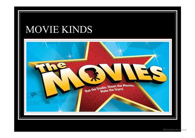 Movie Kinds  - ESL powerpoints