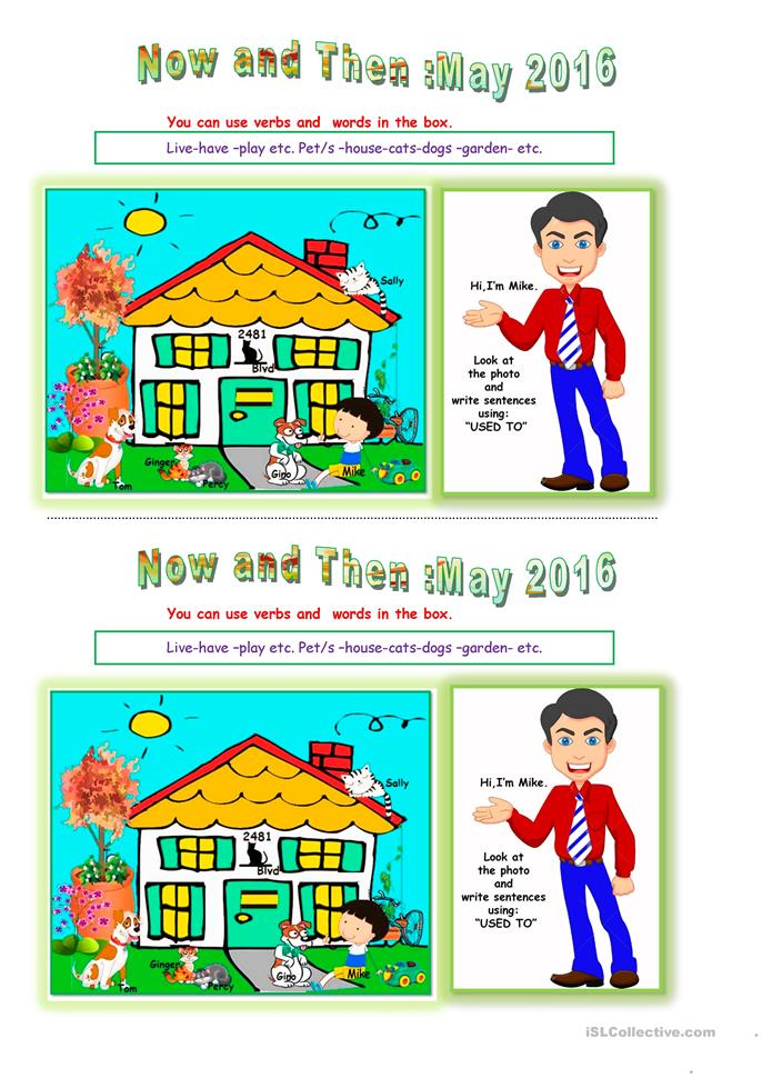 Now and Then May 2016. - ESL worksheets