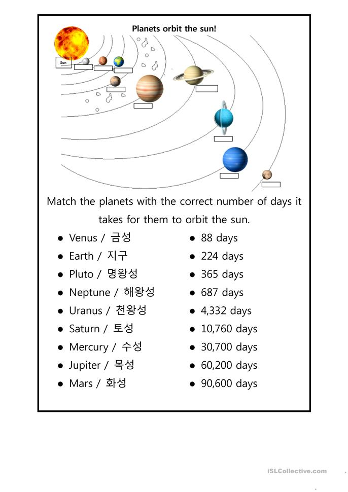 Free Worksheets » Planets For Kids Worksheets - Free Math ...