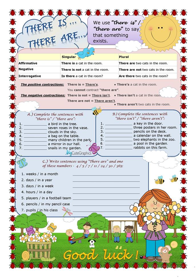 There is...There are... - ESL worksheets