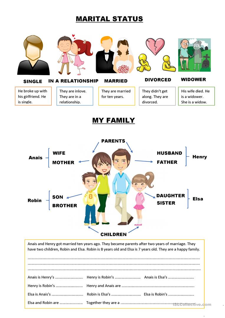 family members and marital status worksheet