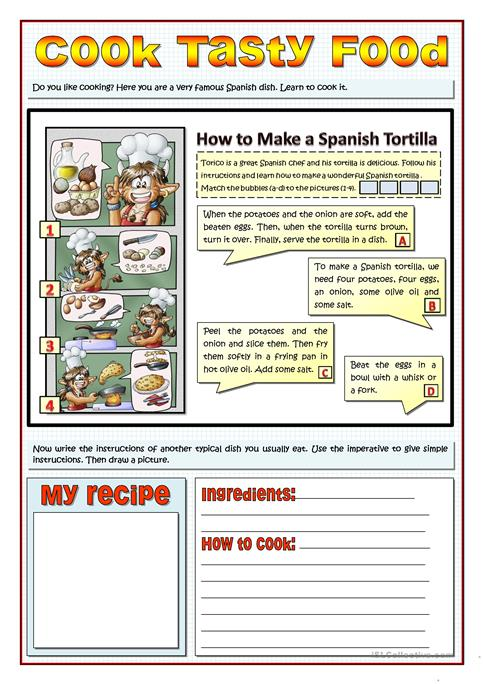 Cook tasty food recipes and imperatives worksheet free esl cook tasty food recipes and imperatives forumfinder Images