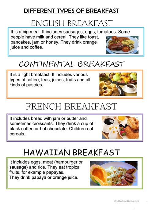 Different types of breakfasts around the world worksheet free esl different types of breakfasts around the world ibookread Download