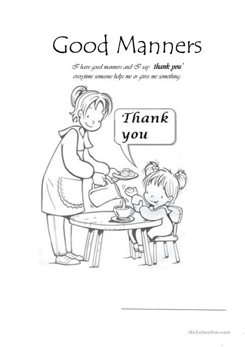 Good Manners worksheet - Free ESL printable worksheets made by teachers