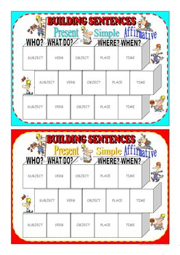 image about Sentence Building Games Printable named English ESL sentence coming up with worksheets - Optimum downloaded