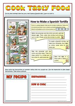 19 free esl recipes worksheets cook tasty food recipes and imperatives forumfinder Choice Image