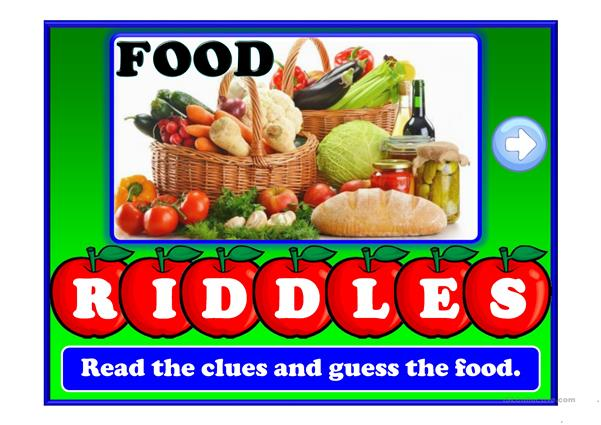 FOOD RIDDLES  - a speaking game
