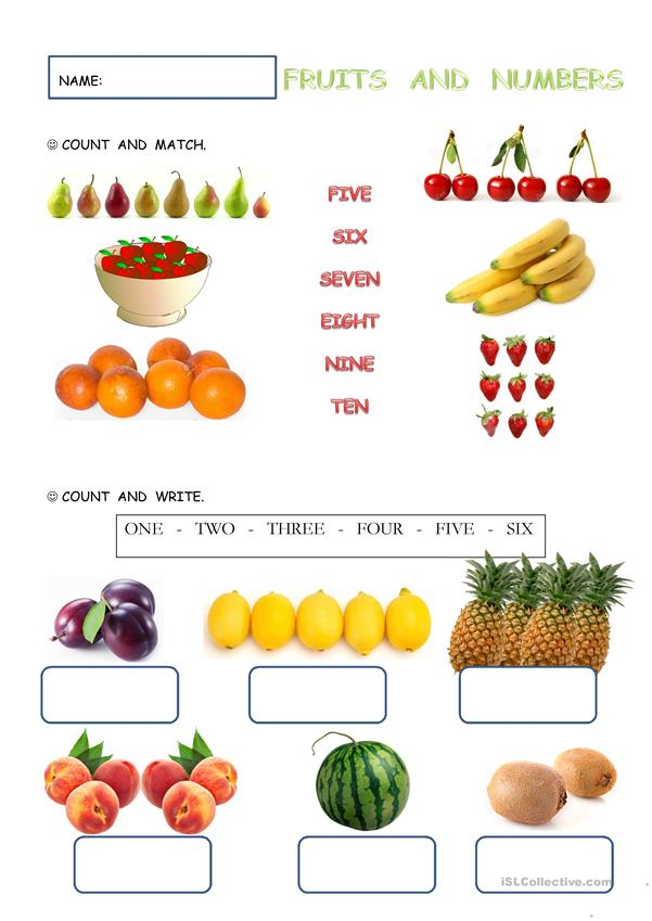 FRUITS AND NUMBERS