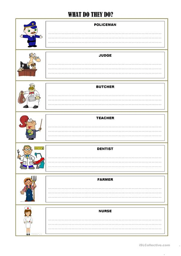 Job exercises and vocabulary *3 pages*