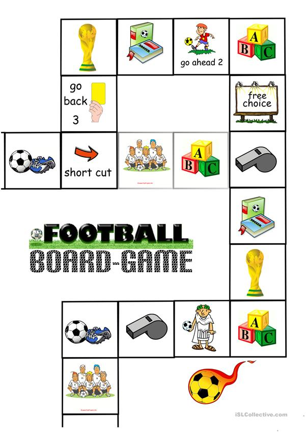 Soccer/Football Board Game (1c) - Board