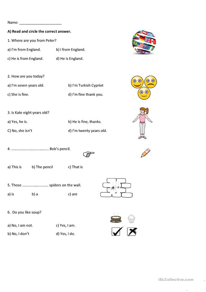 math worksheet : 201 free esl multiple choice worksheets : Multiple Choice Worksheets