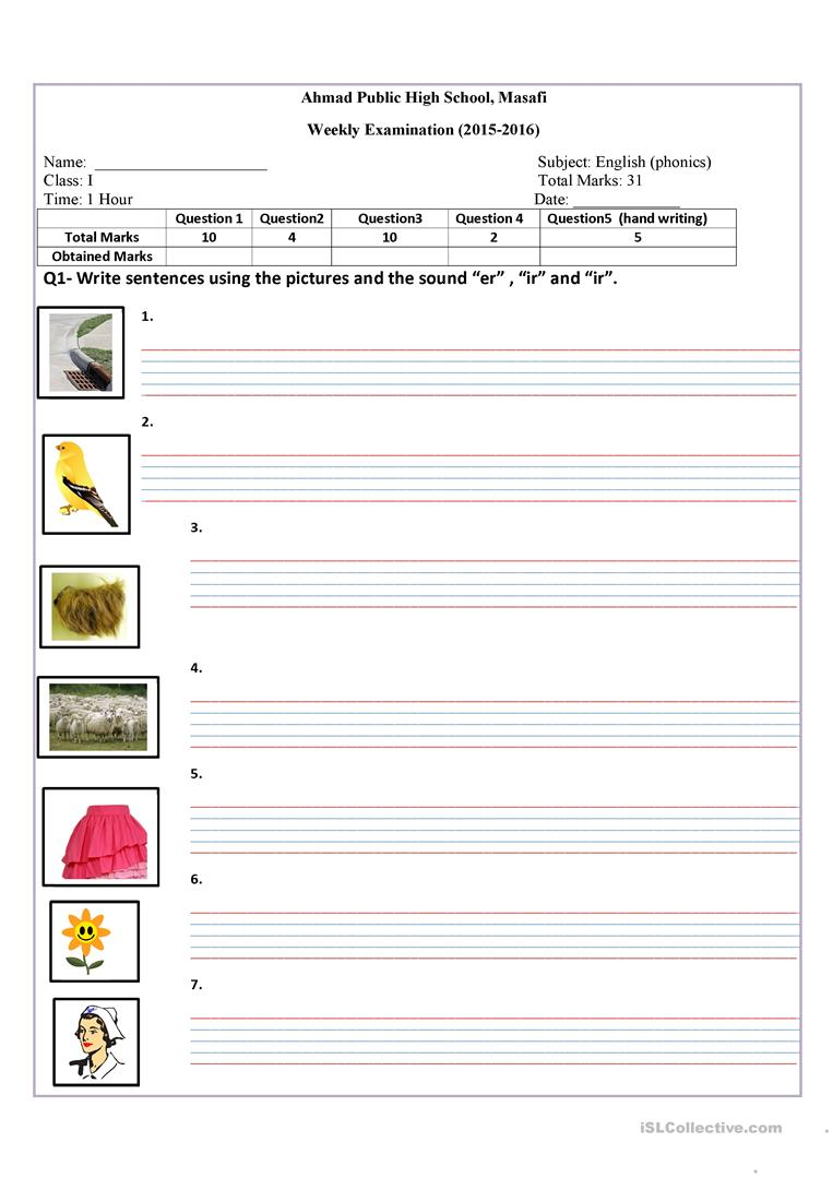 er,ir,ur sound worksheet - Free ESL printable worksheets made by ...